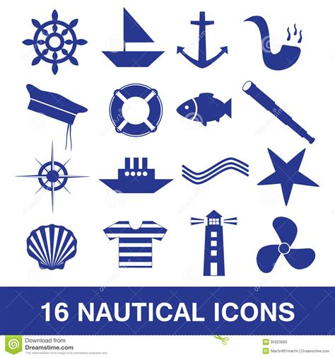 nautical icon collection eps10 stock vector image 35923680