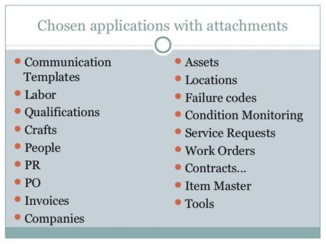 maximo communication template attachments in ibm maximo asset management