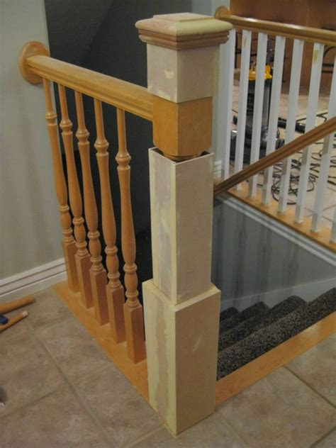 banister attachment remodelaholic stair banister renovation using existing