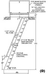 Osha Stair Handrail Requirements Ships Ladder 68 176 Steep Incline Hatch Access Roof Access