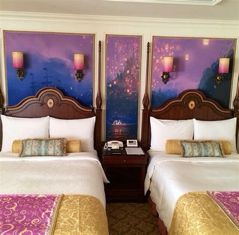 Disneyland Themed Hotel | gorgeous tangled themed guest rooms at tokyo disneyland