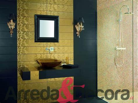 luxury bathroom tiles ideas mosaico in vetro effetto oro mod cayman chagne