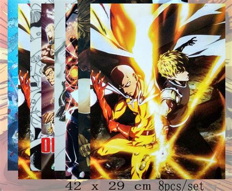 Poster Anime One Punch Saitama Genos 1 one punch figure toys anime one punch genos