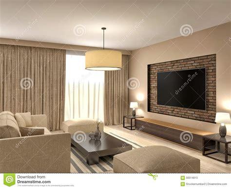 modern brown living room modern brown living room interior design 3d illustration stock illustration illustration