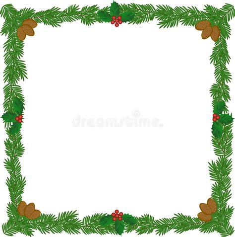 christmas wreath frame stock image image of bough