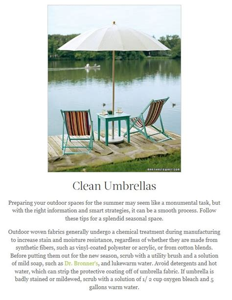 How To Clean Your Patio Umbrella For The Home Pinterest How To Clean Patio Umbrella