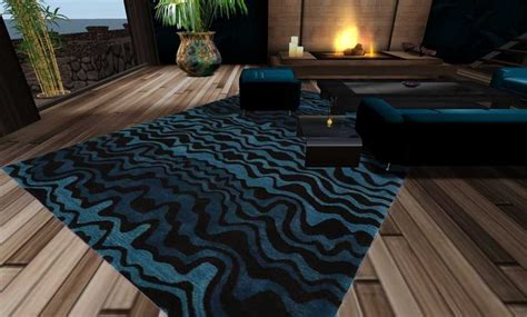 black and blue rug second marketplace blue and black contemporary rug