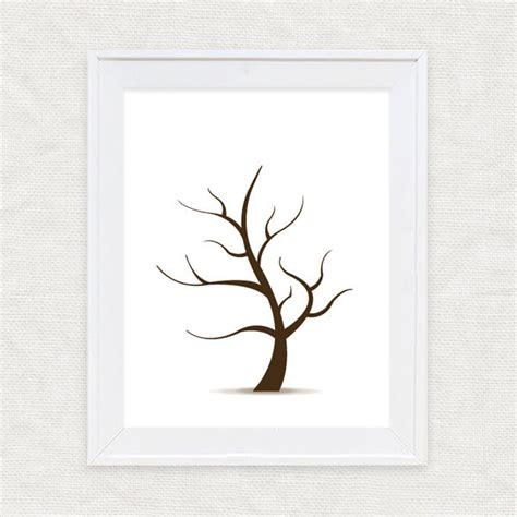 diy template fingerprint guest book tree instant download