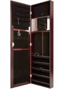 Design For Jewelry Armoire With Lock Ideas Jewelry Armoire Wall Mounted Foter