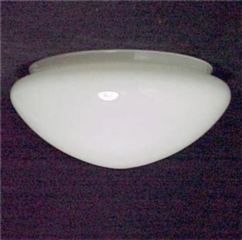 white glass ceiling light shade pan globe 8 x4 x 9 flush