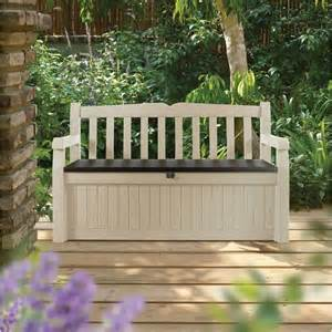 Outdoor Storage Bench Seat New Durable Outdoor Garden Storage Box Bench Seat For Toys Garden Tools Ebay