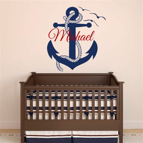 wall stickers boys wall decal boy personalized initial name wall by fabwalldecals