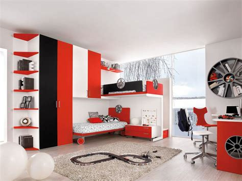 black and white themed room awesome motor themed red black and white bedroom ideas
