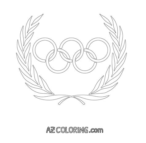 Olympic Coloring Pages by Olympic Rings Coloring Page Coloring Home