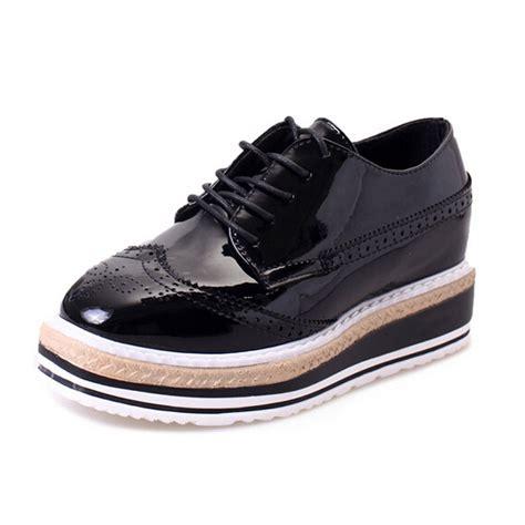 platform oxford shoes womens oxfords 2016 platform shoes patent leather