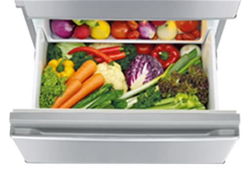 Veggie Drawer Humidity by Mr Cx370ej Ob A Connoisseur Two Drawer Inverter 370 Fridge