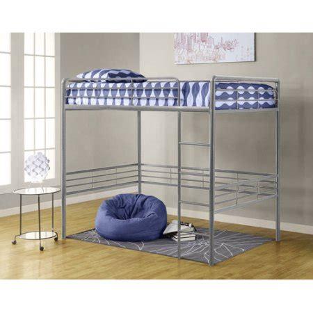 full size metal loft bed dorel versatile full size metal loft bed silver finish