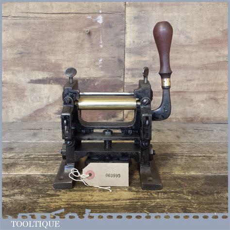 rare antique  dixon leatherworking skiving machine