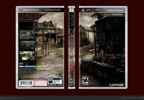 theme psp resident evil 4 resident evil 4 wanted edition psp box art cover by