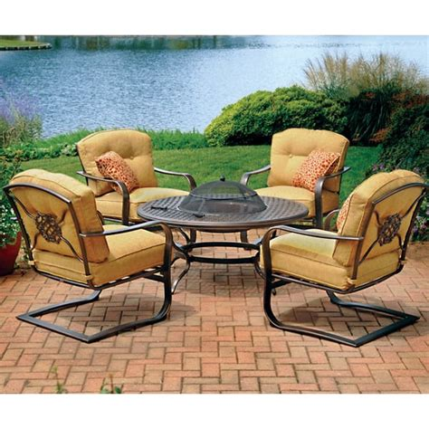 firepit set 5 heritage seating pit patio set