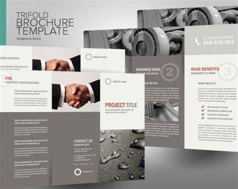 30 contoh desain brosur lipat tiga 30 trifold brochure 14 best good brochure design images on pinterest