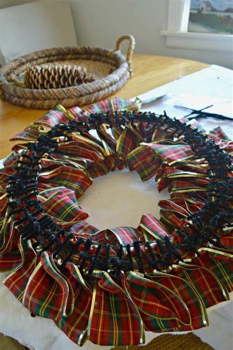 ribbon wreath  christmas ribbon wreath