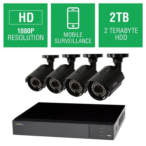 q see 8 channel 1080p 2tb hd surveillance system with