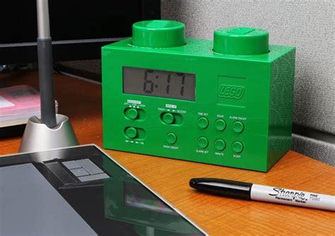lego brick alarm clock   fm radio gadgetsin