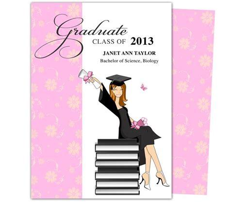 graduation card templates publisher printable diy grad announcements feminine wealth design