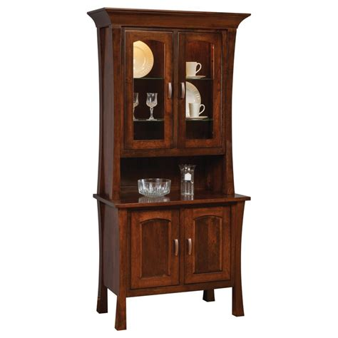 Entry Hutch Furniture Woodbury Collection 2 Door Hutch Amish Crafted Furniture