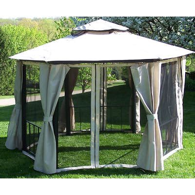 coolaroo gazebo coolaroo 10 x 13 hexagonal gazebo bj s