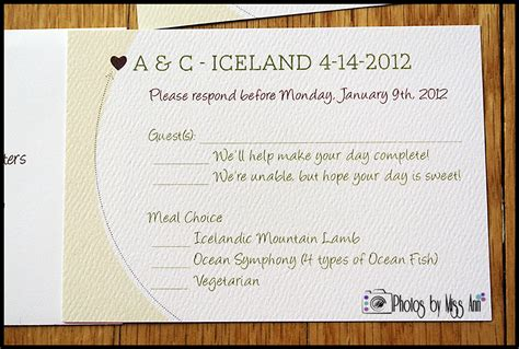 how to make rsvp cards for a wedding planning an iceland destination wedding iceland wedding