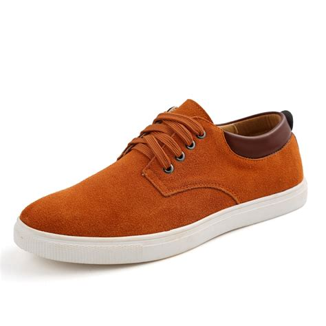s suede leather comfortable casual shoes big size