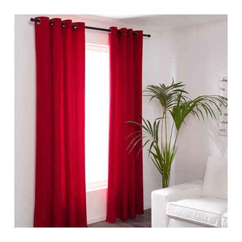 red panel curtains 2 panel curtains curtain window door drape thick blackout