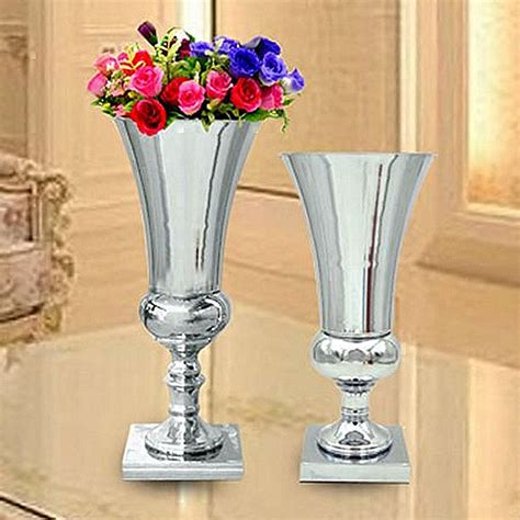 Metal Vases For Flowers by Popular Potted Flower Centerpiece Buy Cheap Potted Flower