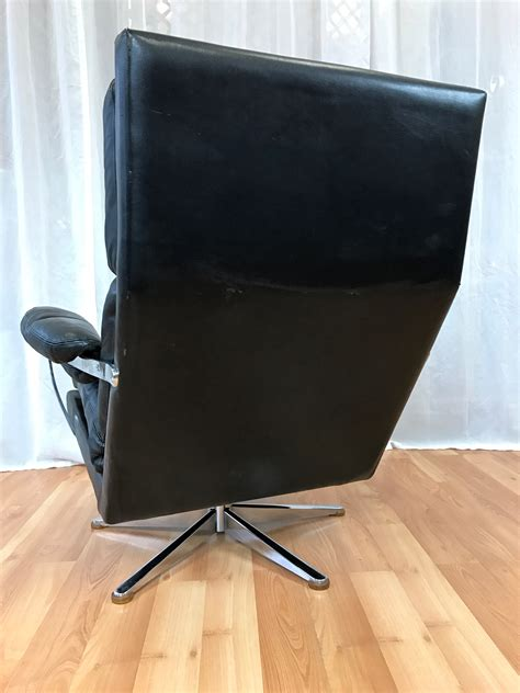 leather club chair and ottoman vintage swedish leather lounge chair and ottoman sold