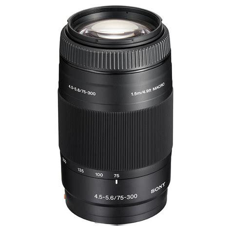 Lensa Sony Alpha 75 300 sony af 75 300mm f4 5 5 6 a mount lens info