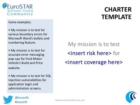 test charter template tips for writing better charters for exploratory testing