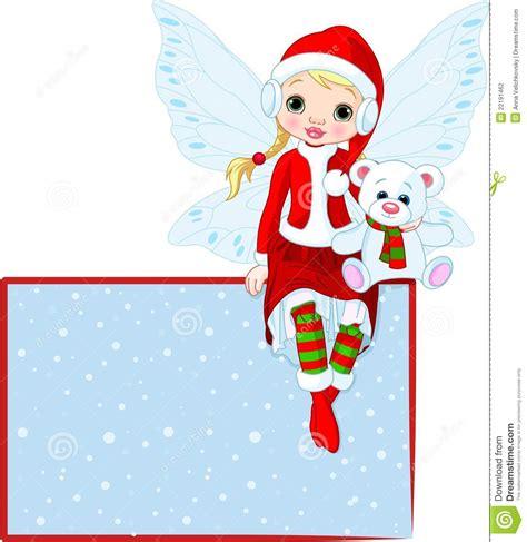 imagenes de navidad hadas tarjeta de hadas del lugar de la navidad fotograf 237 a de
