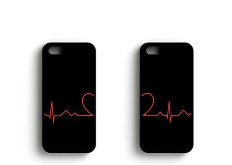Iphone For Couples Matching Cardiogram Cases Iphone Soft