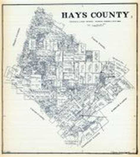 hays county map hays county 1902 atlas hays county 1920