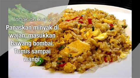 cara membuat nasi goreng alami resep nasi goreng salmon resep nasi goreng dengan bumbu