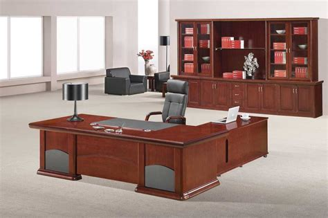 executive desk accessories wood paneled wood desk home office furniture set in medium