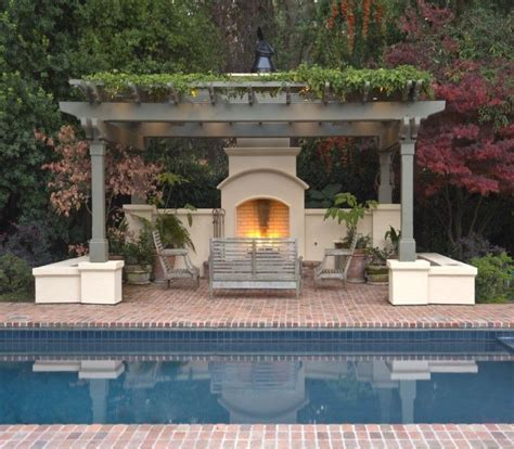 pergola with fireplace make an adorable fireplace in pergola deck for coming