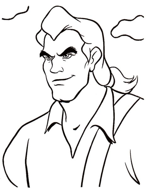 beauty and the beast coloring pages gaston gaston coloring book