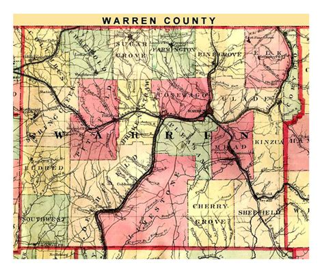Warren County Records Warren Pennsylvania Map Afputra