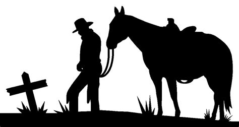 silhouette patterns leaning cowboy silhouette pattern