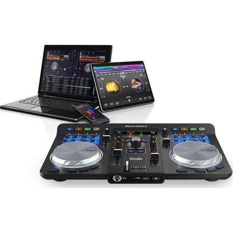 console dj usb hercules universal dj table de mixage hercules sur ldlc