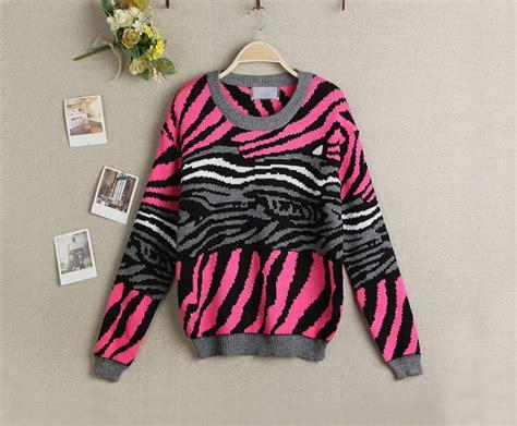Knit Sweater Zebra zebra striped knit sweater knitting patterns wool sweater on luulla