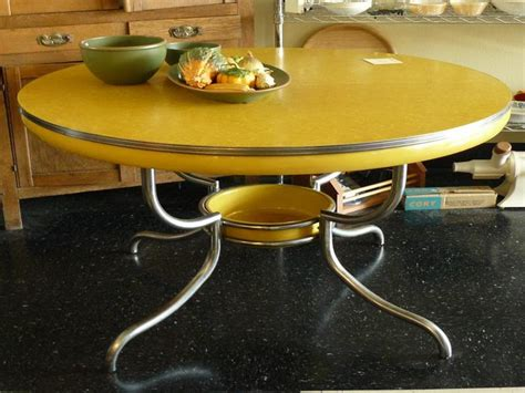 yellow retro kitchen table modern home interiors retro